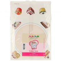 Set 2 caixes per pastissos blanca 26x26x12 cm