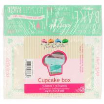Set 3 Caja para cupcakes Quotes 24x16