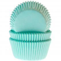 Papel cupcakes x50 verde menta