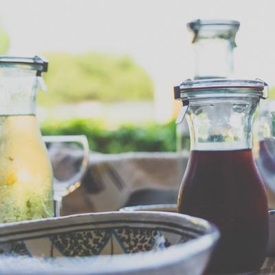 Botella Weck Juice con tapa, goma y clip