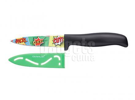 Cuchillo con funda Comic 9 cm verde