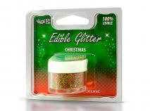 Purpurina comestible 5 g Navidad