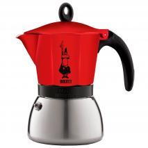 Cafetera italiana Bialetti Moka inducció vermell