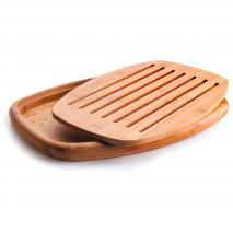 Tabla cortar pan oval bambú