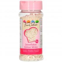 Sprinkles Copos de nieve purpurina blanca 50 g
