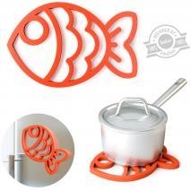 Estalvis silicona magnètic Fish vermell