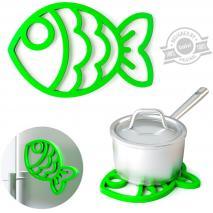 Salvamanteles silicona magnético Fish