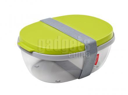 Fiambrera para llevar ensalada Elipse verde