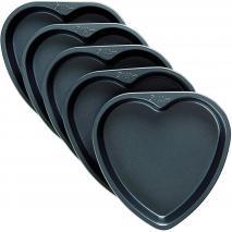 Set 5 moldes Corazón antiadherentes Layer Cake