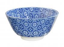 Bol arroz japonés Nippon Blue flores 12 cm