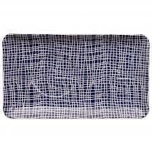 Safata individual Blue Nimes quadres 21x12 cm