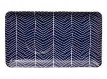 Bandeja individual Blue Nimes rayas 21x12 cm