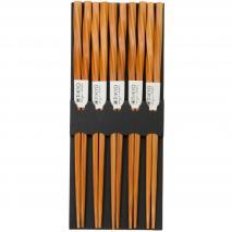 Set 5 pares palillos japoneses espiral