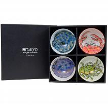 Set 4 bols japoneses peces y marisco