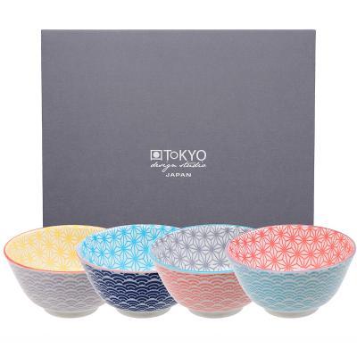 Set 4 boles arroz sushi Wave colores surtidos