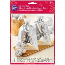 Bolsas galletas y dulces Wilton copos de nieve x 8