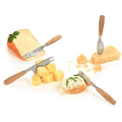 Juego 4 cuchillos queso roble mini