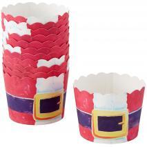 Papel cupcakes Papa Noel 12 unidades