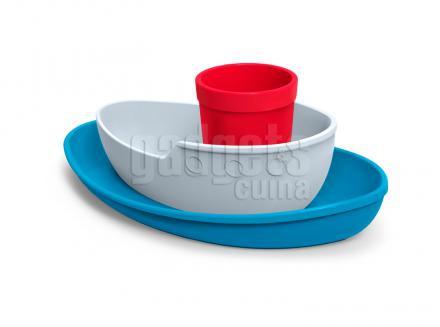 Juego 3 pc vajilla niños barco Tug bowl
