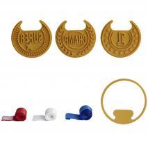 Set 3 cortadores medallas Top cookie