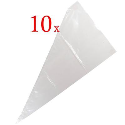 Set 10 mangas pasteleras plástico