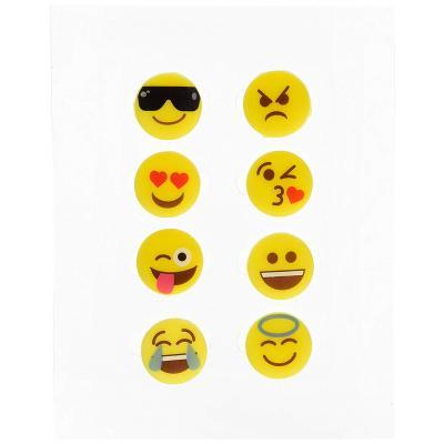 Marcadores de copa emoticonos x 8