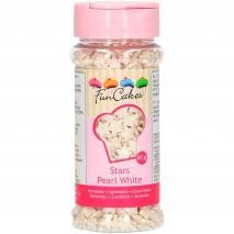 Sprinkles Estrellas perladas blancas 60g
