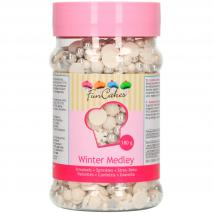 Sprinkles Medley invierno blanco-plata 180g
