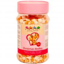 Sprinkles Medley navidad blanco-dorado 180g