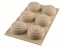 Molde silicona mini girotondo 6 x 100ml