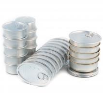 Set 10 latas conservas aluminio oval 11x7 cm