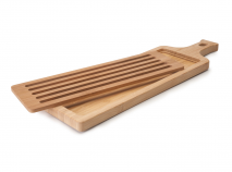 Tabla cortar pan baguette bambú larga 50x15