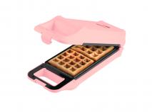 Máquina para gofres Bestron color rosa