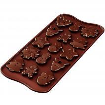 Molde bombones silicona Xma Buttons x 15 cav