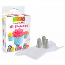 Set 3 boquillas Rusas 3D flowers