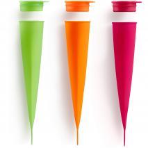 Juego 3 moldes helado calippo colores