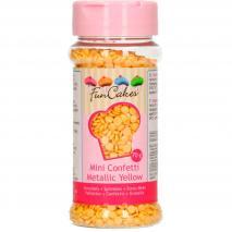 Funcake confeti amarillo metálico 70 g