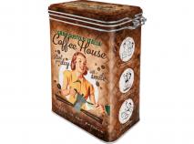 Caja met�lica con clip Coffee House