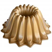 Molde pastel Nordic Ware Lotus Bundt gold