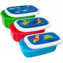 Set 3 Fiambreres snack Dino