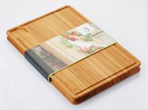 Tabla de cortar bambú recogedor jugos 45x30 cm