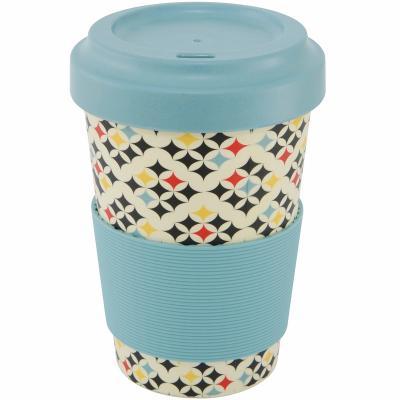 Taza mug fibra bambú Checked 500 ml