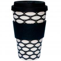 Taza bambú con tapa Ecoffee 400 ml Basketcase