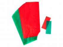 Bolsas galletas y dulces x20 verde y rojo