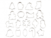 Set 18 cortadores galletas metálicos Navidad