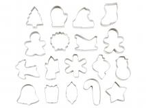 Set 18 talladors galetes metàl.lics Nadal