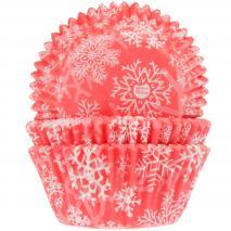 Paper cupcakes x50 Floc de neu crystal red