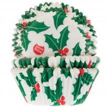 Papel cupcakes x50 Hoja Navidad