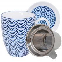 Set mug con filtro Nippon Blue olas