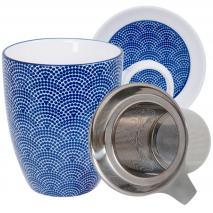 Set mug con filtro Nippon Blue dots